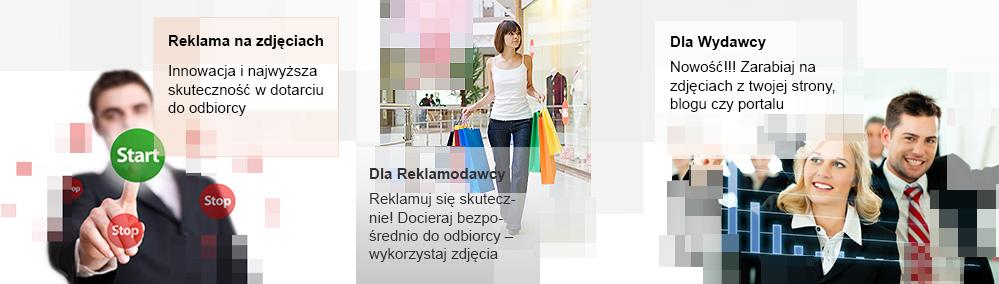 Reklama na zdjęciach
